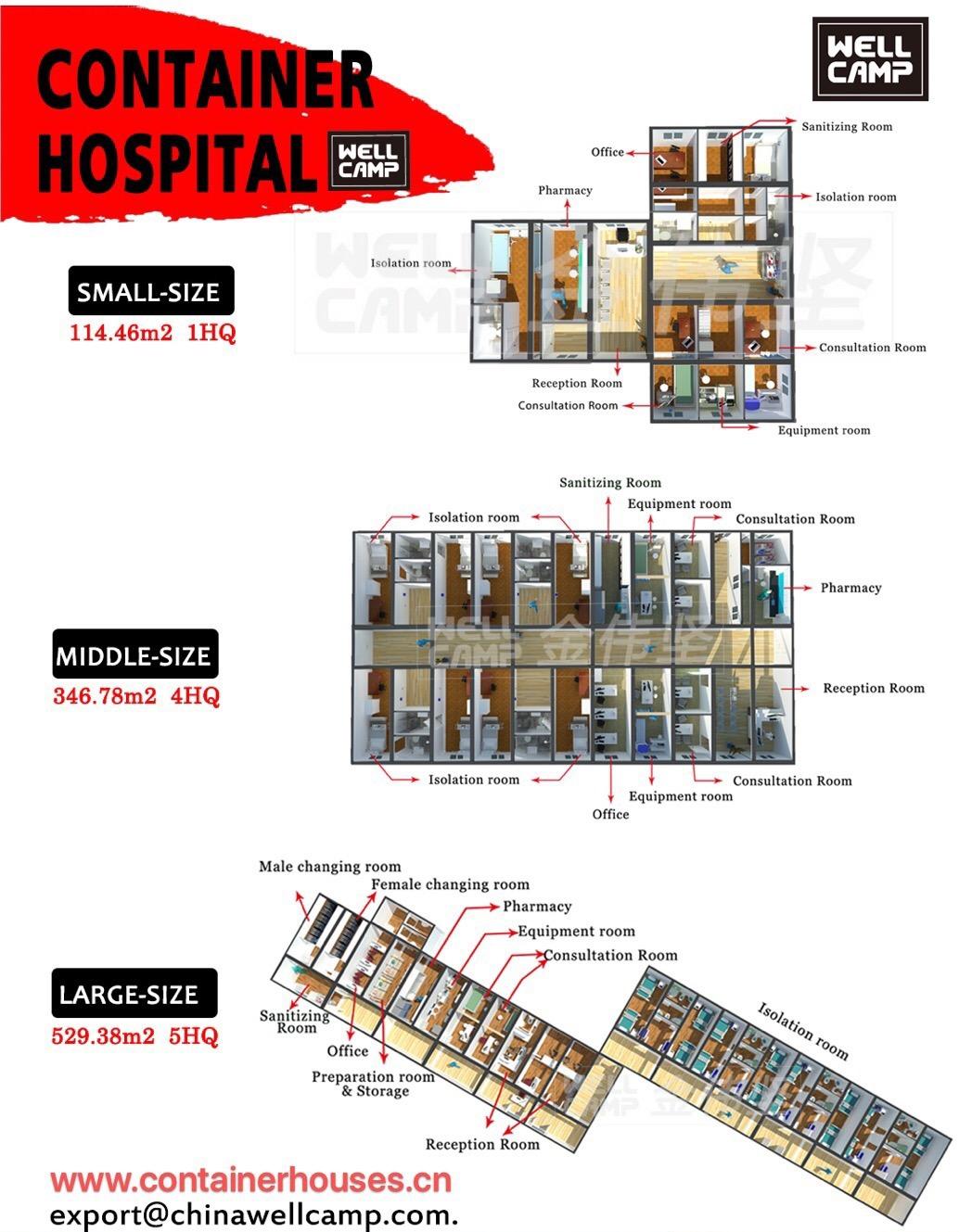product-China Emergency Container Hospital for Coranavirus Modular Quarantine Hospital-WELLCAMP-img