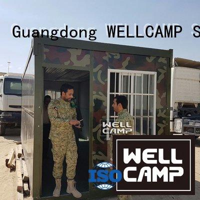 WELLCAMP Brand worker foldable container house solar family
