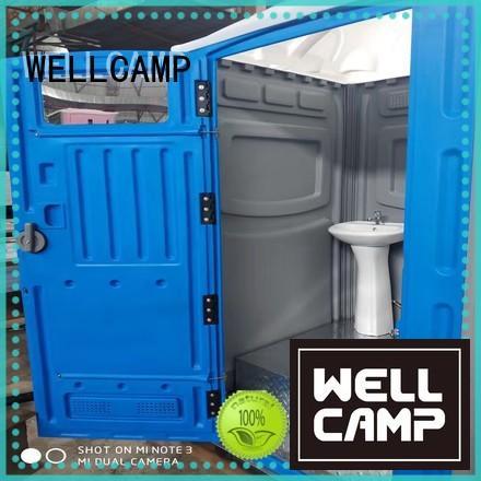panel sandwich plastic portable toilet WELLCAMP manufacture