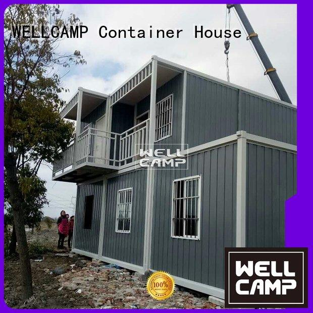 Hot prefabricated container house assembly red cross WELLCAMP Brand