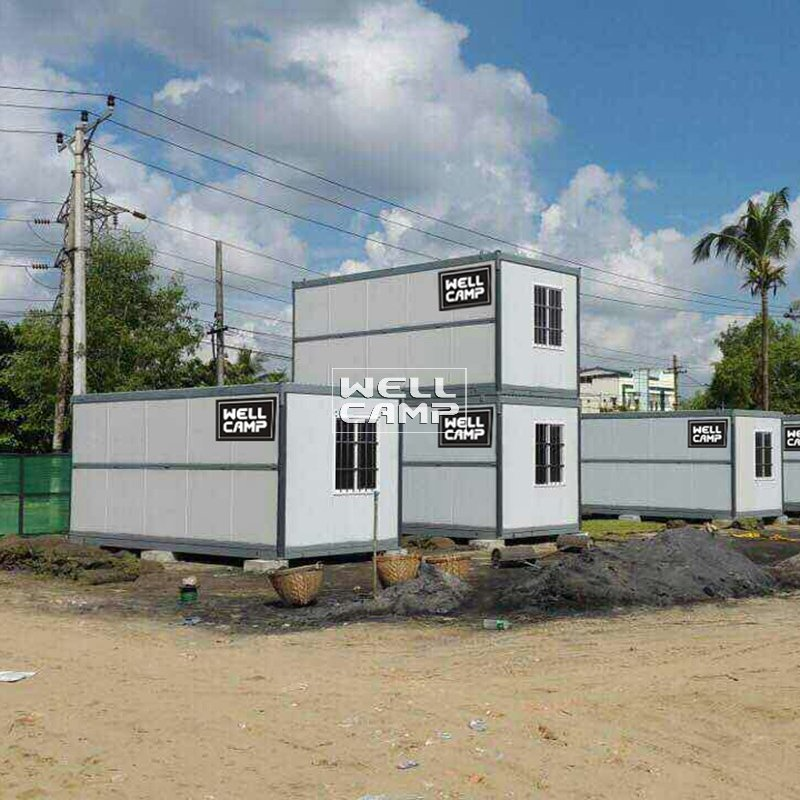 WELLCAMP Prefabricated IEPS Sandwich Panel Foldable Container House F02 Folding Container House image54