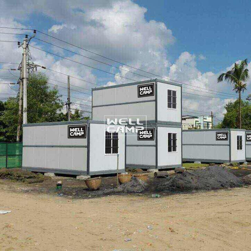 Prefabricated IEPS Sandwich Panel Foldable Container House Single Wide Mobile Homes For Sales- F02