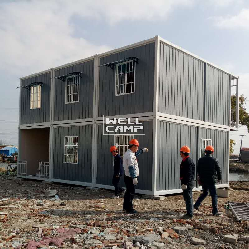 WELLCAMP Eco Friendly Two Floor Detachable Container House for Office & Living -D03 Detachable Container House image50