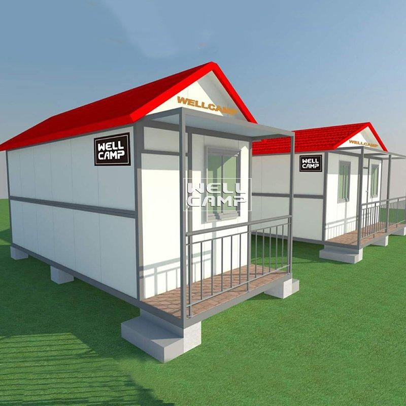 One Bedroom Fireproof Prefab Folding Container House Villa for Holiday Resort Cost Of Prefabricated Houses  -V11