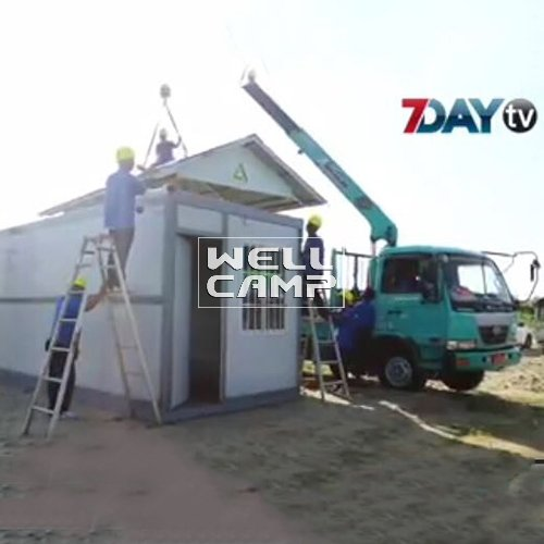 WELLCAMP One Bedroom Fireproof Prefab Folding Container House Villa for Holiday Resort  -V11 Container Villa image45