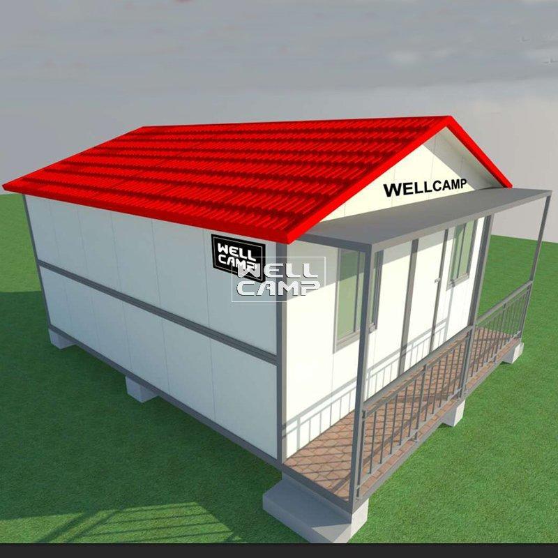 Easy Installation Kit Two Bedrooms Prefabricated Folding Villa House Foldable House Affordable Modern Prefab Homes-V02