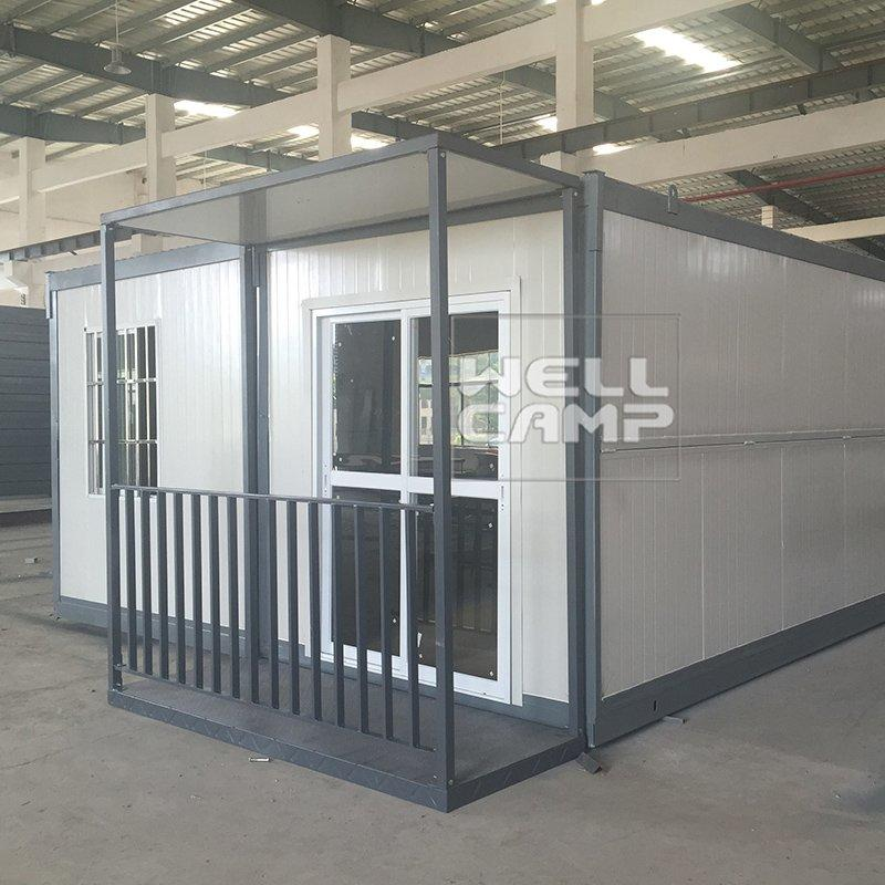 Easy Installation Kit Two Bedrooms Prefabricated Folding Villa House Foldable House Affordable Modern Prefab Homes-V02