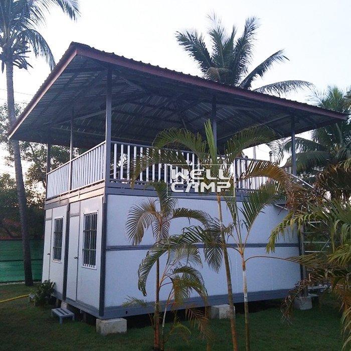 Prefabricated Two Floors Folding  Resort Container House Villa  Prefab Modern Farmhouse and Prefab Guest House -V11