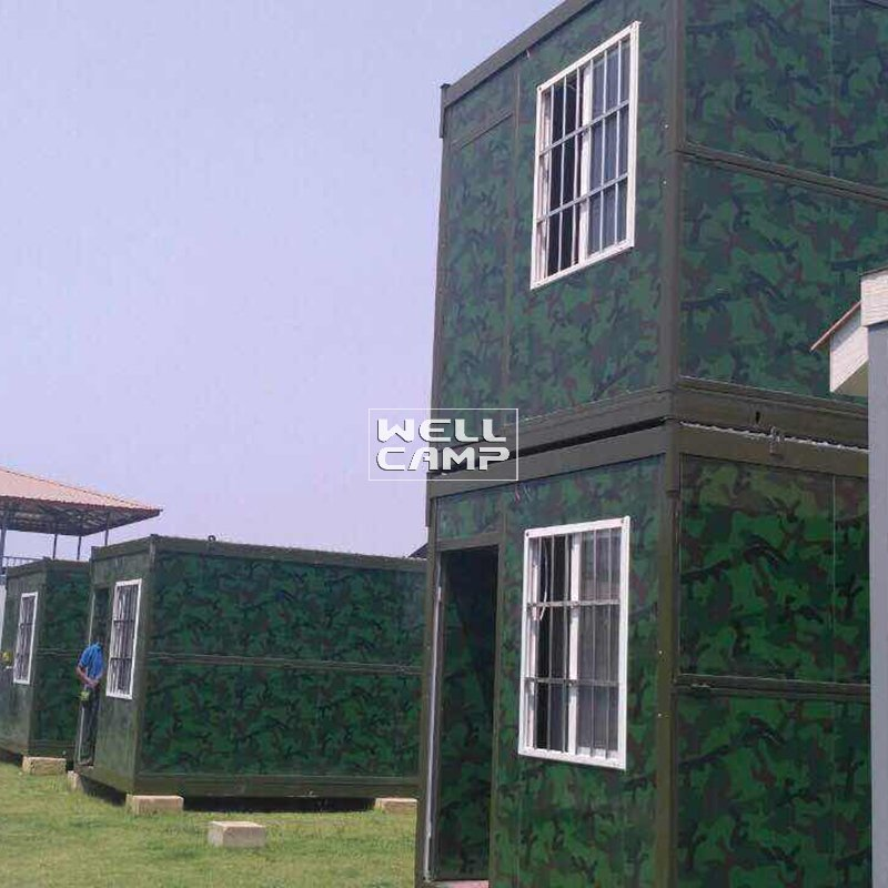 WELLCAMP Esay Fixed Two Levels Folding Container Villa for Family Home -V04 Container Villa image42