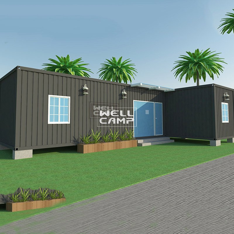 WELLCAMP L Type Removable Fireproof Sandwich Panel Prefab Container Resort Villa -V05 Container Villa image40