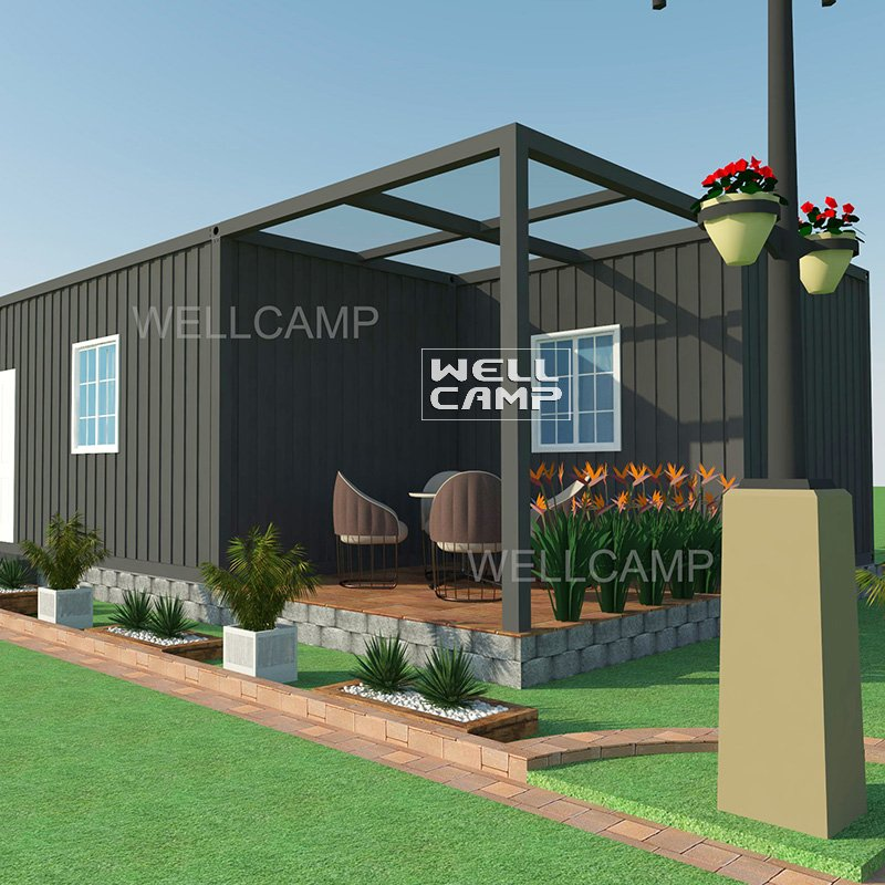 WELLCAMP Prefab Detachable Container Villa House Family Hotel with Three Bedrooms -V06 Container Villa image39
