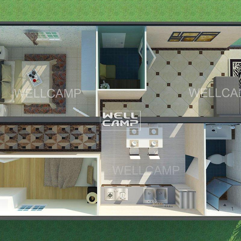 Prefab Detachable Container Villa House Family Hotel with Three Bedrooms Modern Container House  Quality Manufactured Homes -V06