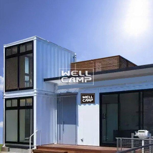 Modern Design Double Floor Container Villa with Two Bedroom Flat Stacks Containers Prefabricated Houses China -V07