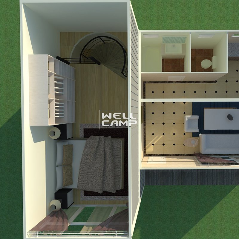 WELLCAMP Modern Design Double Floor Container Villa with Two Bedroom  -V07 Container Villa image38
