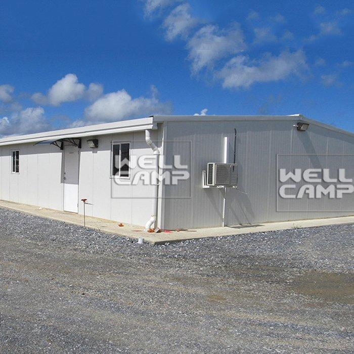Prefabricated Light Steel Structure Warehouse with EPS Sandwich Panel Cheap Manufactured Canteen Project-W01