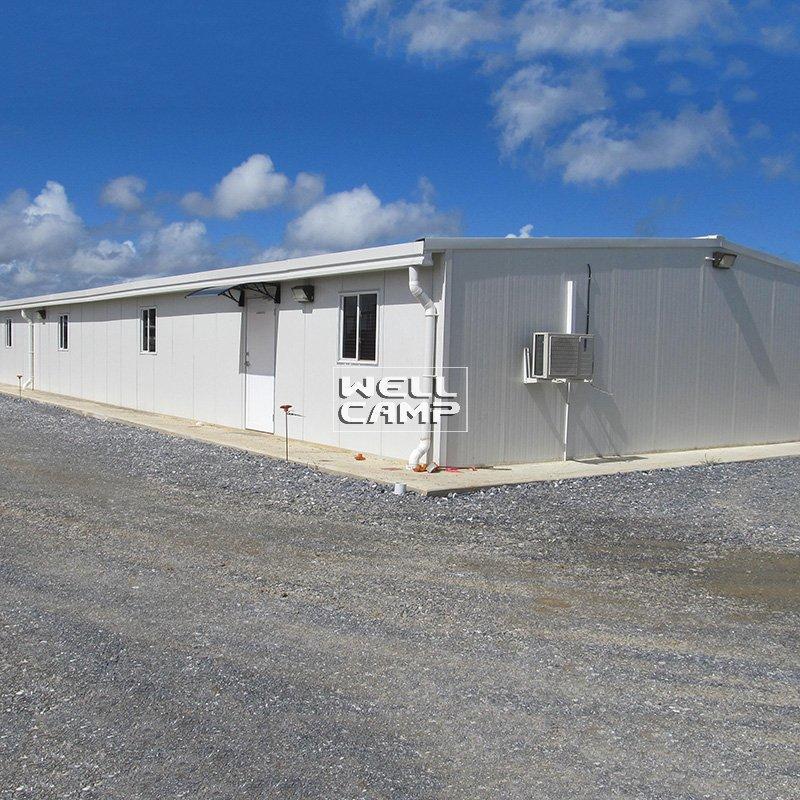 Single Steel Sheet or Sandwich Panel Steel Structure Canteen & Office Modern Prefab Warehouse for sale -W02
