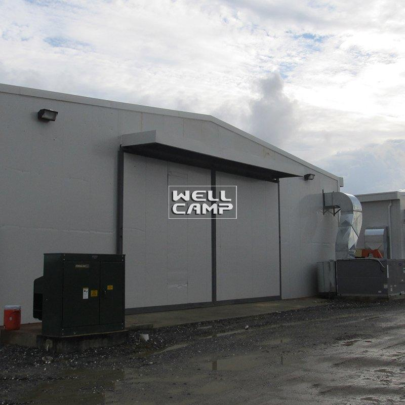 Single Steel Sheet or Sandwich Panel Steel Structure Canteen & Office Modern Prefab Warehouse for sale -W02