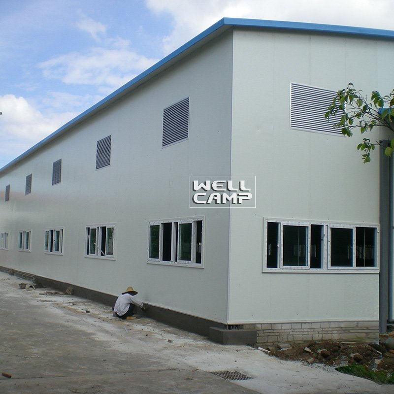 WELLCAMP Pre-Engineered Two Floor Light Steel Structure Warehouse for Storage -W05 Steel Structure image1