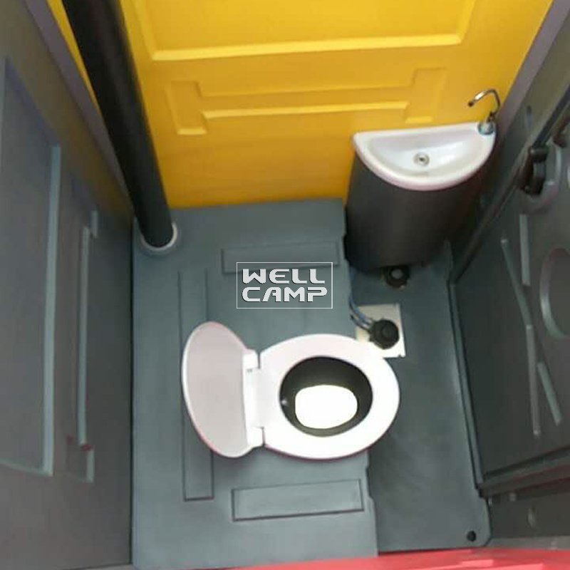 WELLCAMP Rotomolding Plastic Material Mobile Protable Toilet Cabin for Bathroom -T04 Portable Toilet image29