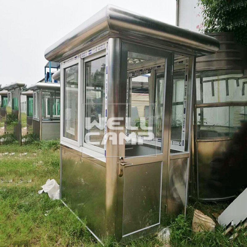 WELLCAMP Stainless Steel & EPS Waterproof Sandwich Panel Security Booth Kiosk Room -R11 Security Room image28