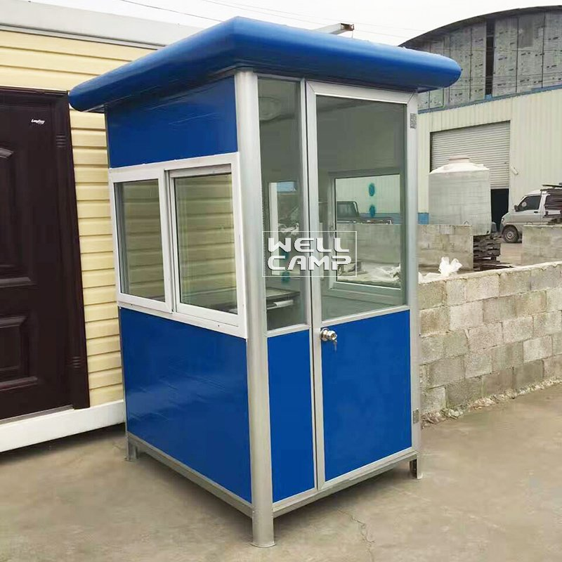 WELLCAMP Light Steel 40 Feet Shipping Prefab Guard Room Sentry Container Box -R02 Security Room image22
