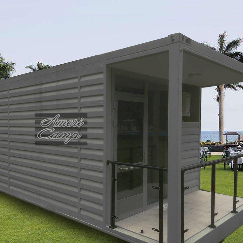 Prefab Beach House Fireproof Sandwich Panel Shipping Container House for Living Manufactured And Modular Homes-S01