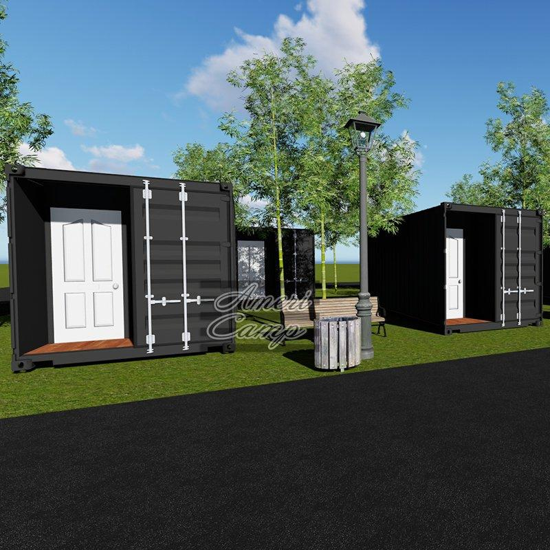 20'GP Prefabricated Shipping Container House For Holiday Resort Shipping Container Home Companies-S03