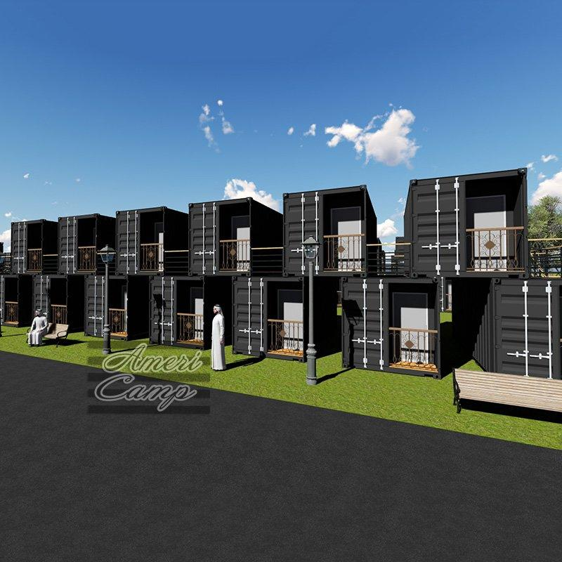 Prefab Garden Building Two-Storey Shipping Container House China Container Homes Prefabricated Farm Houses-S04