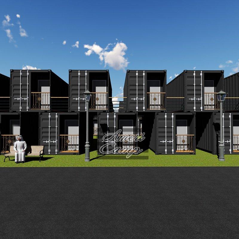 WELLCAMP Prefab Garden Building Two-Storey Shipping Container House -S04 Shipping Container House image20