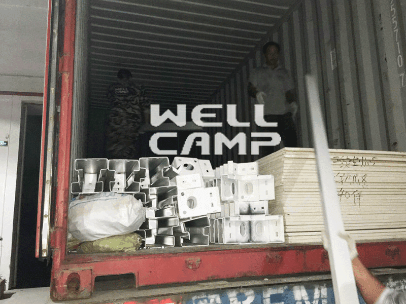 three container villa fllor fireproof WELLCAMP