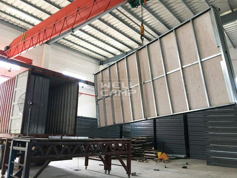 WELLCAMP Brand easy foldable container house workshop f04