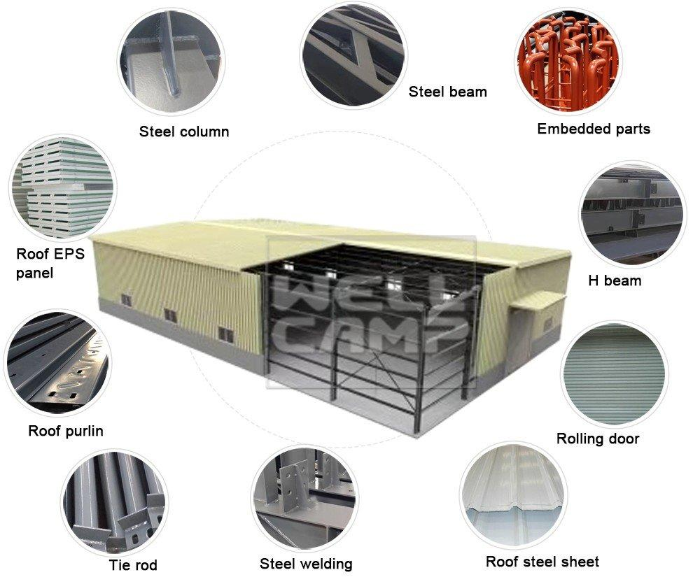 OEM steel warehouse structure sheet steel chicken farm