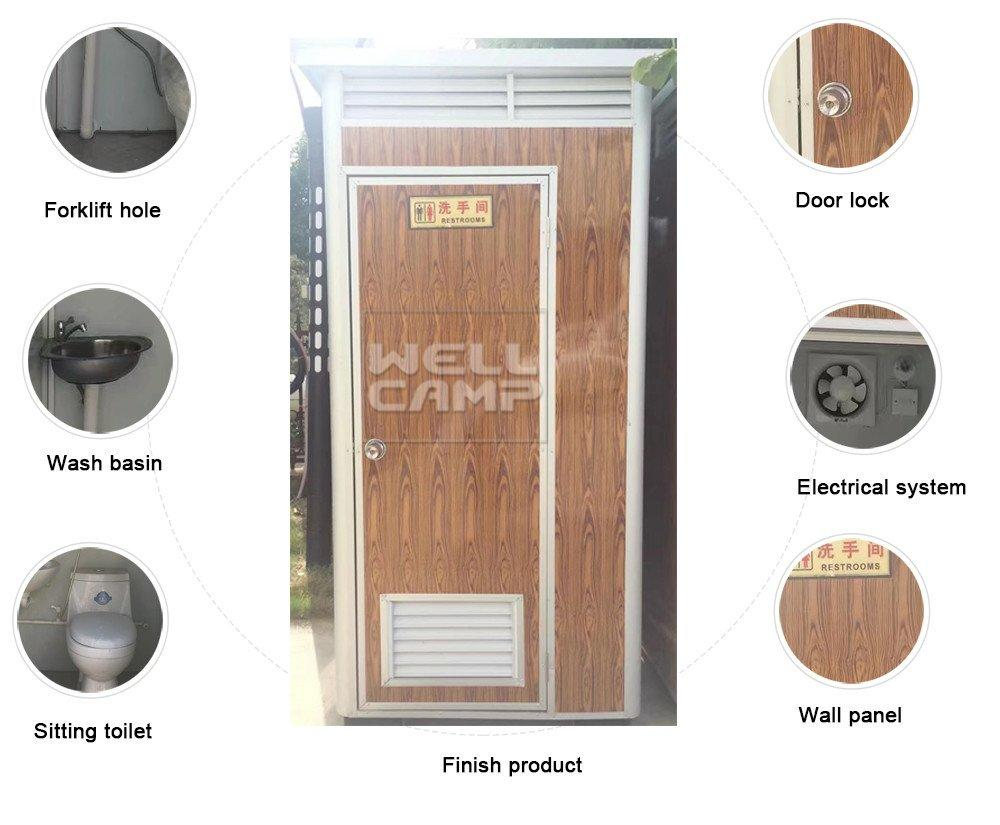 cabin mobile color rotomolding WELLCAMP portable chemical toilet