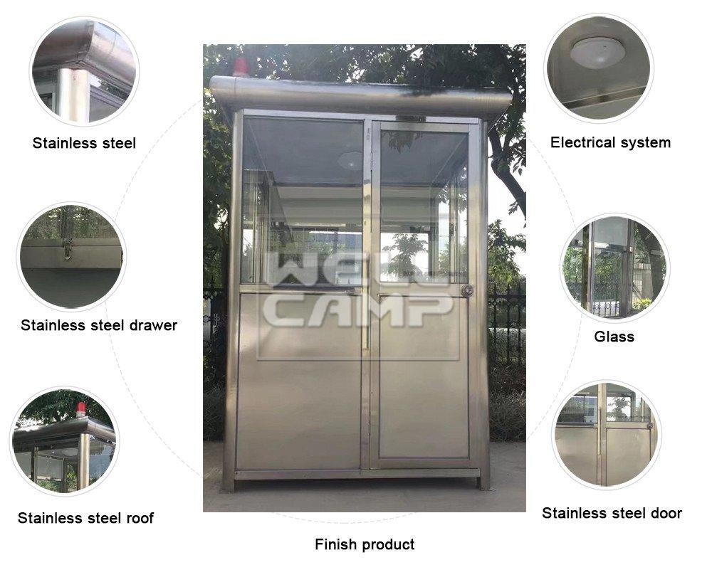 WELLCAMP eps security stainless security booth for sale feet