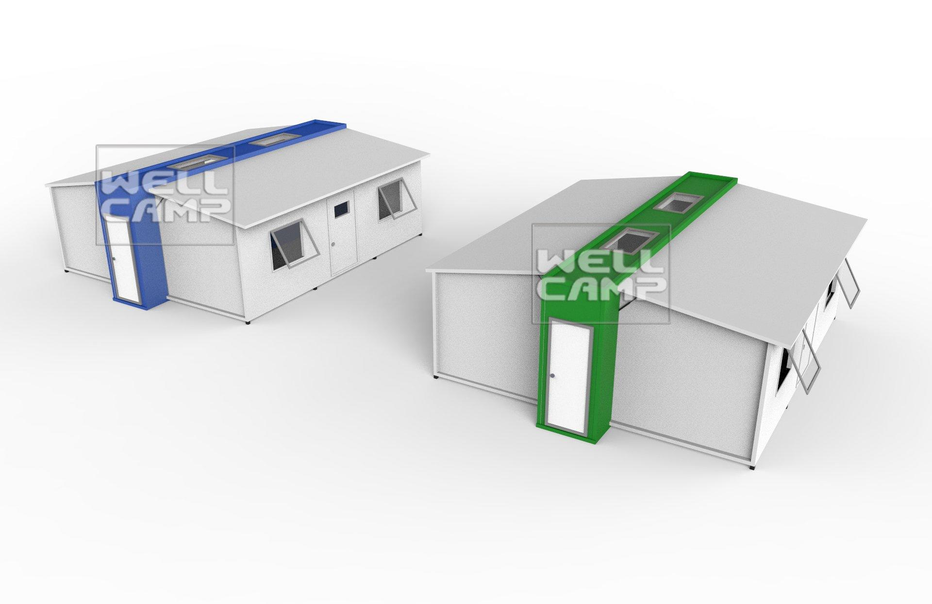 Expandable Container Shelters House for Family & Student Dormitory Prefabricated Garden Room  Modern Tiny House E-01