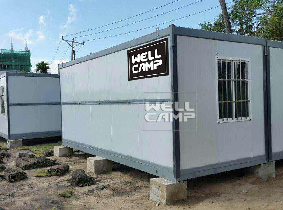 Wellcamp Folding Container House for Countryside Project In Southeast Asia