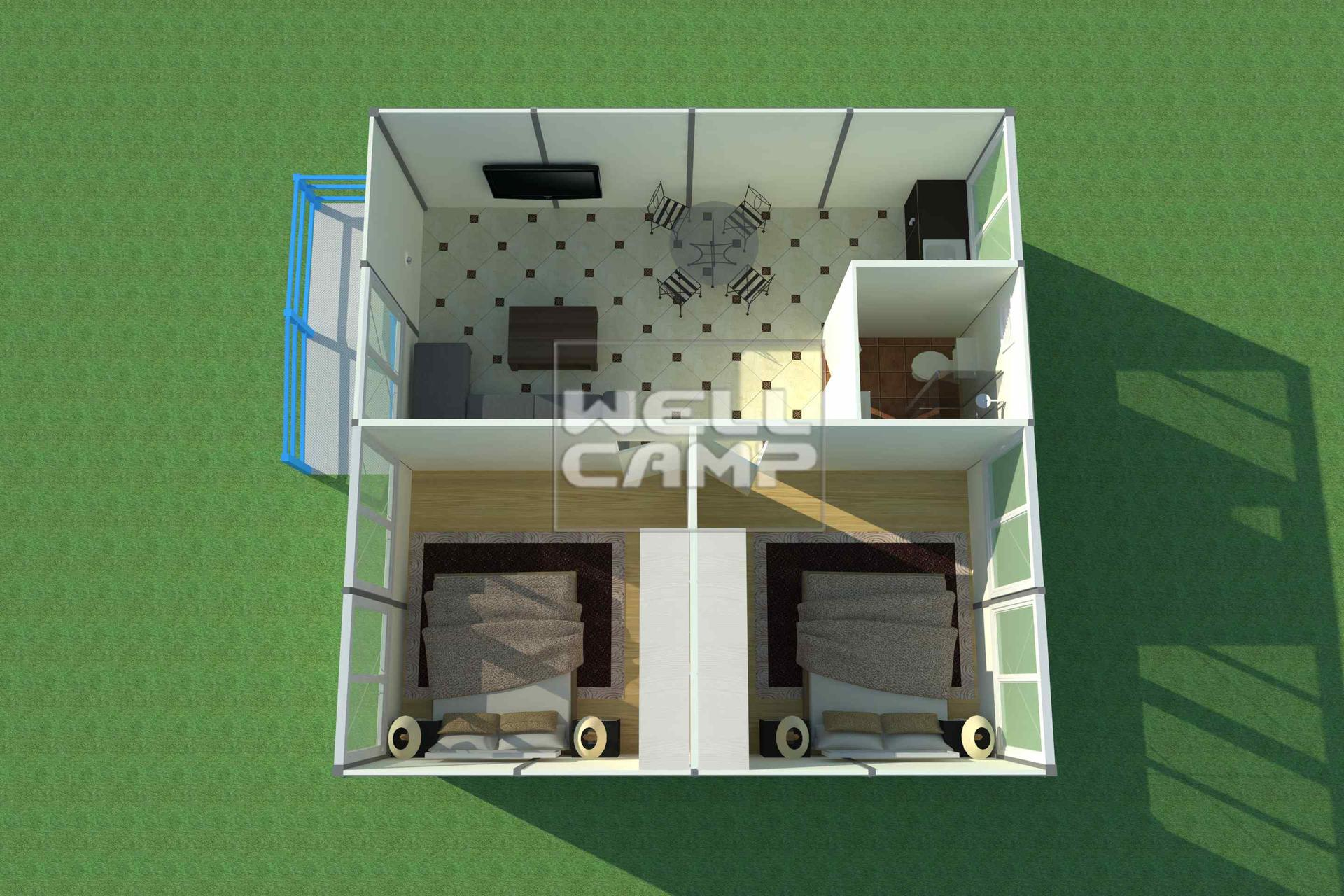 Prefabricated K House for Classrooms & Accommodation Custom Mobile Rooms Prefab House With Steel Base -K01