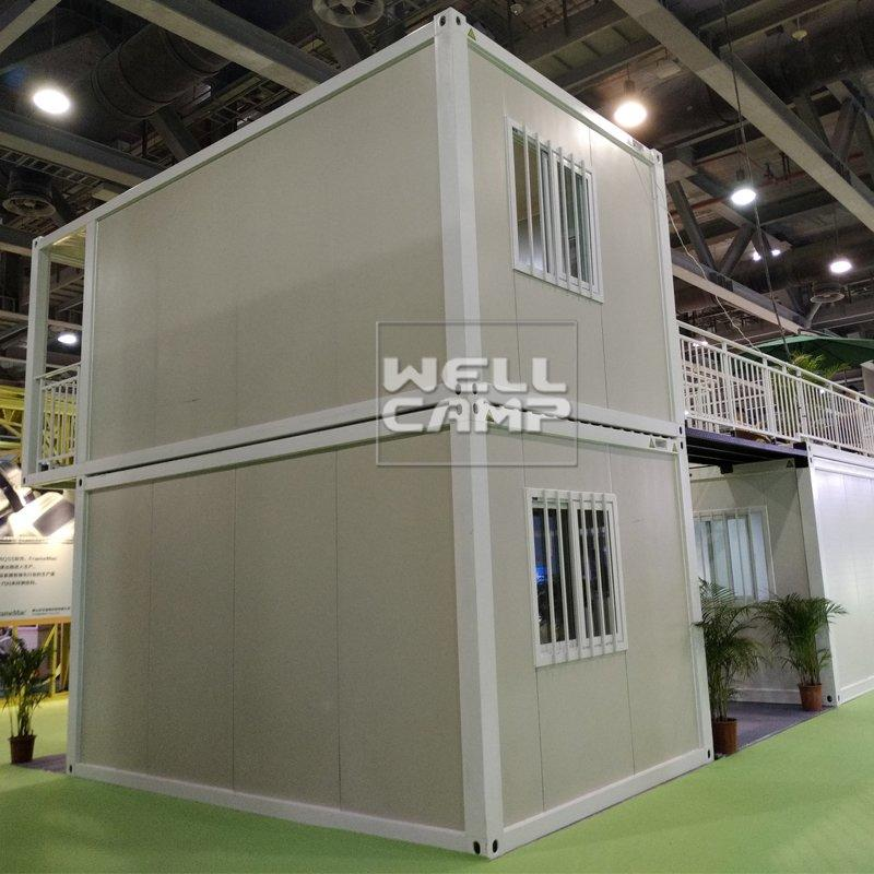 Large Manufactured Homes New Design Prefabricated Flat Pack Sandwich Container House Modern Prefab-P06