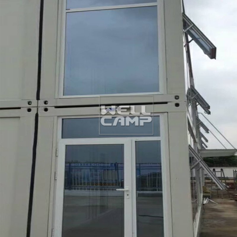 WELLCAMP Two Floors Flat Pack Container House with Easy Fixing And Nice Glass Design -P01 Flat Pack Container House image10