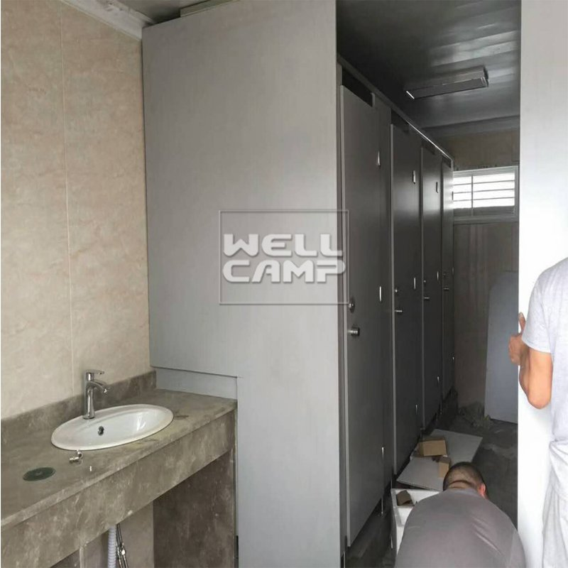 WELLCAMP Modern Fireproof Sandwich Panel Flat Pack Container Toilet  -F19 Flat Pack Container House image8
