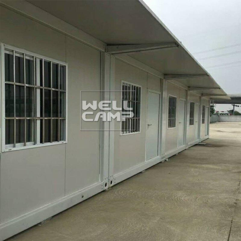 Modern Fireproof Sandwich Panel Flat Pack Container Toilet Prefabricated Small Homes Container Guest House