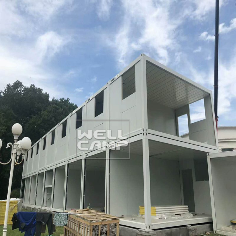 WELLCAMP The Newest Design Flat Pack Container Office with Electrical System -F16 Flat Pack Container House image2