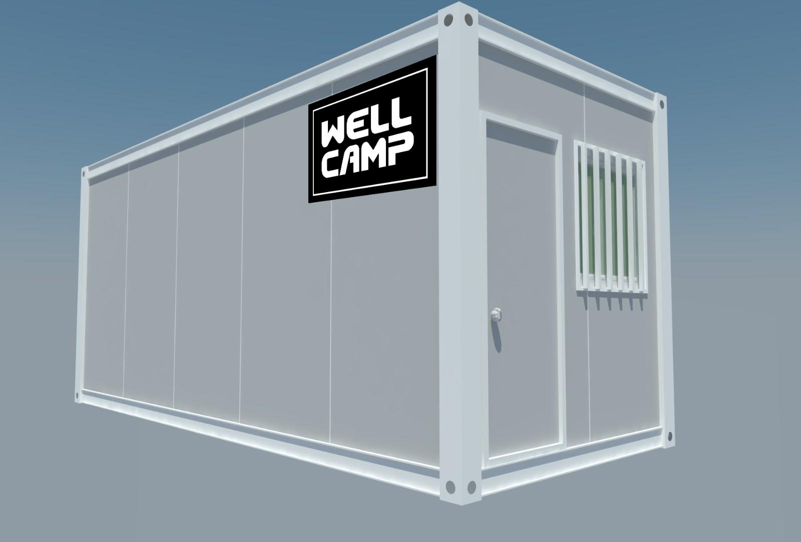 Custom fireproof guest flat pack containers WELLCAMP village