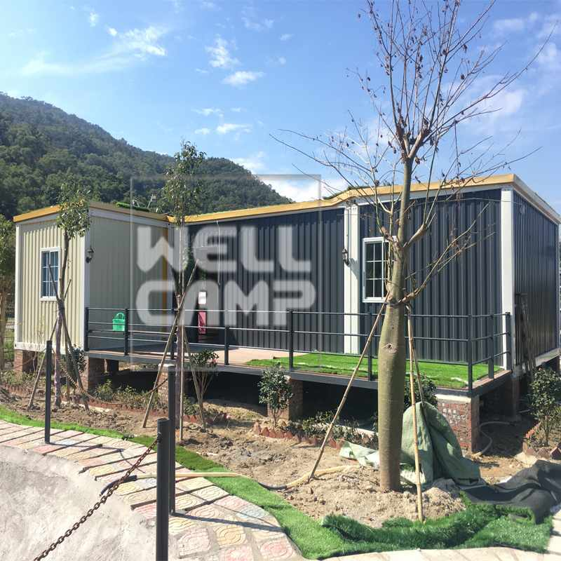 WELLCAMP Eco-Friendly Glass Wool Panel Portable Prefab Container Villa Ripple House V-15 Container Villa image19