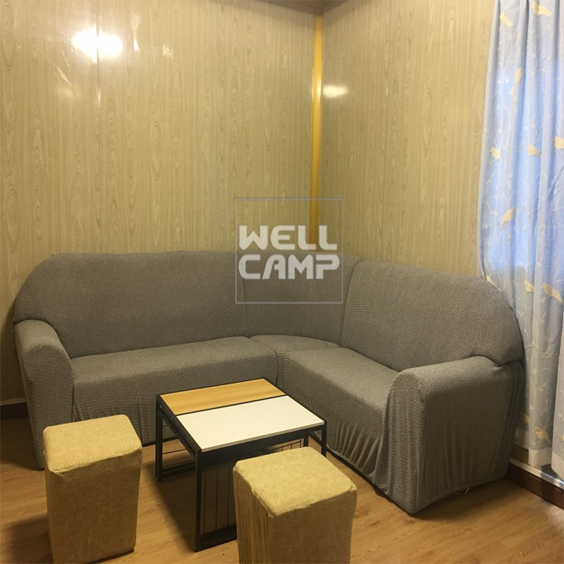 WELLCAMP Eco-Friendly Glass Wool Panel Portable Prefab Container Villa Ripple House V-15 Container Villa image24