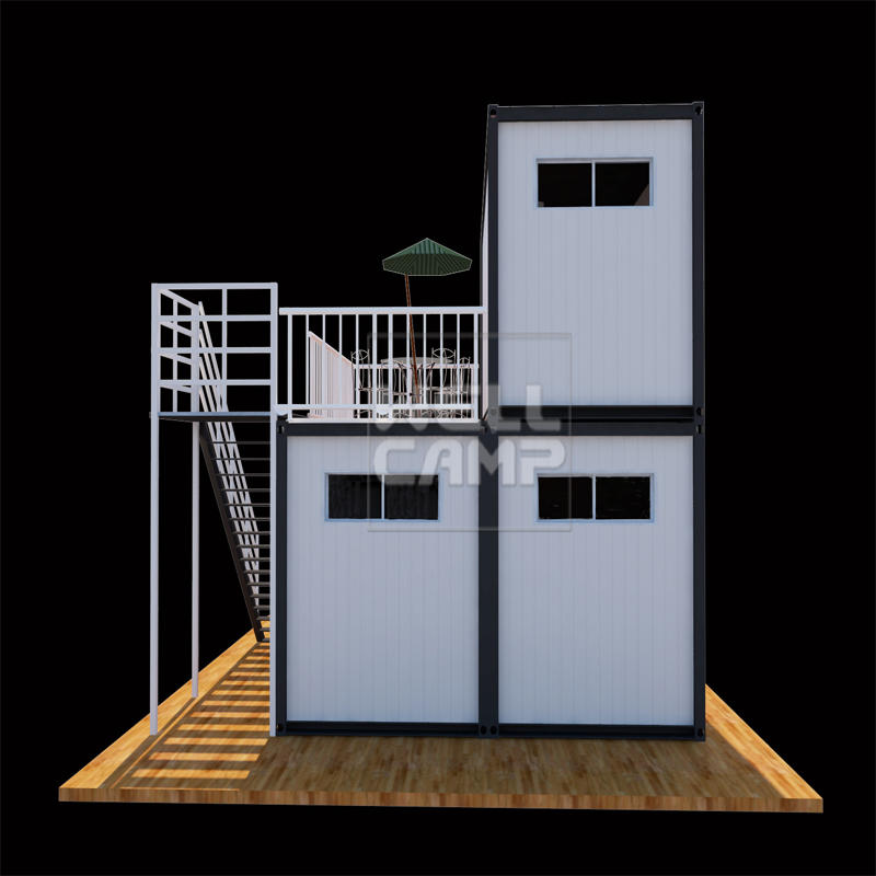 Wellcamp prefab container resort flat pack container galvanized steel structure quality manufactured homes