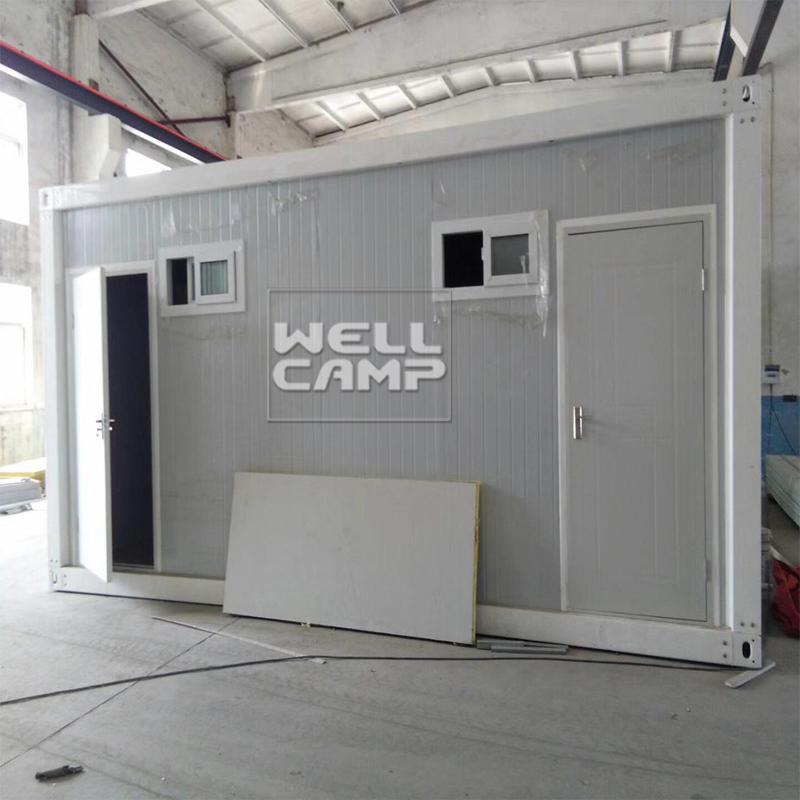 Wellcamp prefab flat pack container mobile toilet sitting toilet and wash basin prefabricated shower