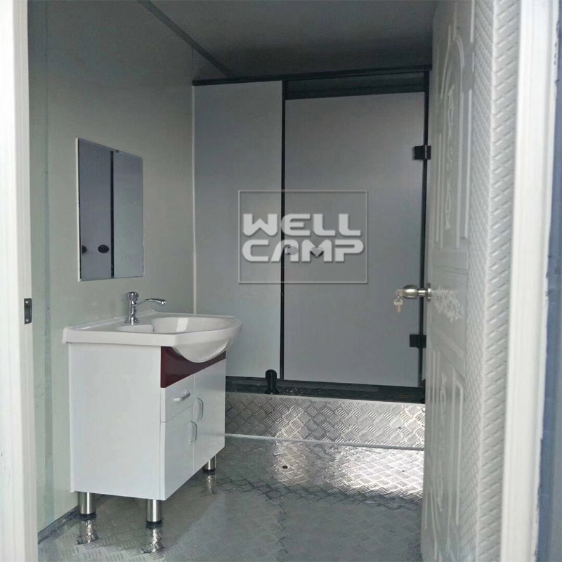 WELLCAMP Wellcamp prefab flat pack container mobile toilet sitting toilet and wash basin Flat Pack Container House image7
