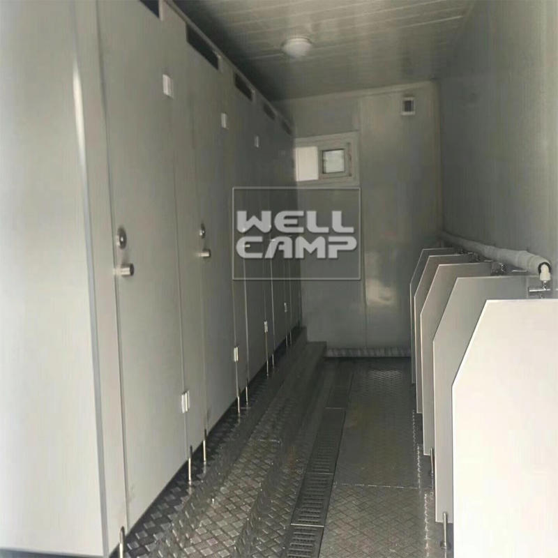 Wellcamp portable toilet with shower room flat pack container design portable toilets for indoor use