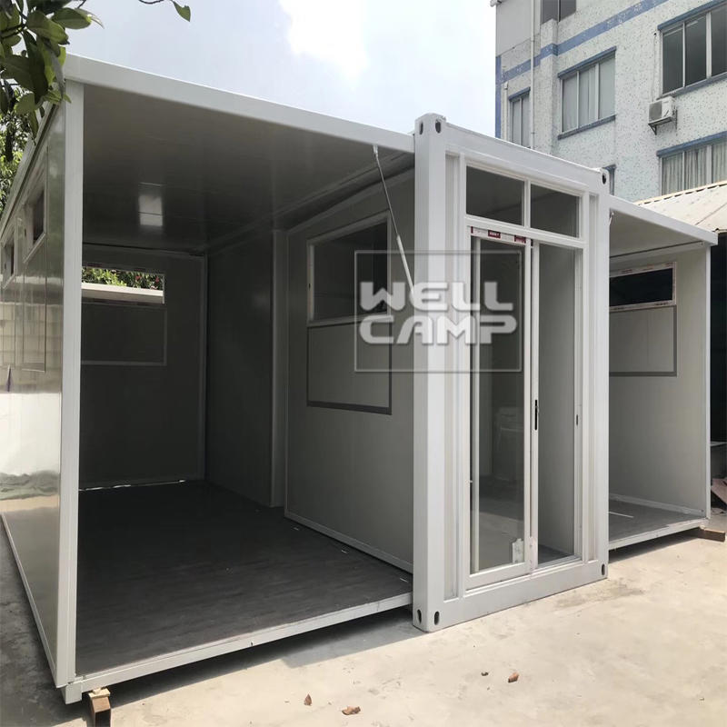 Wellcamp easy installation one floor flat pack container for office & class room & restaurant luxury manufactured homes